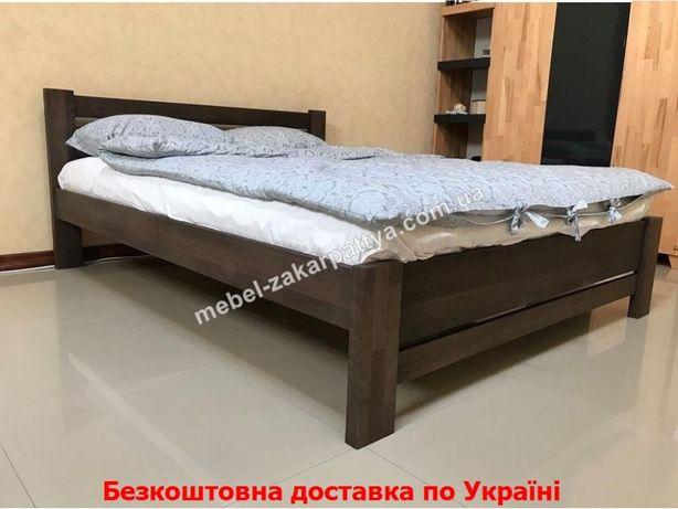 Деревянная кровать двуспальная массив бук. Ліжко двоспальне 160х200