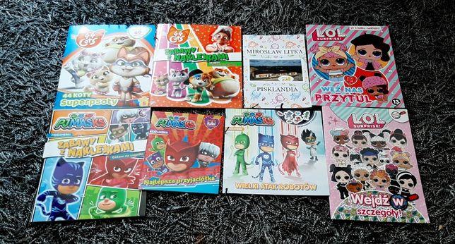 Nowy zestaw książeczek i zadań Lol, Pj masks, 44 koty