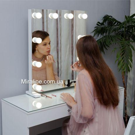 Зеркало настольное с лампами , для макияжа , гримерное , с подсветкой.