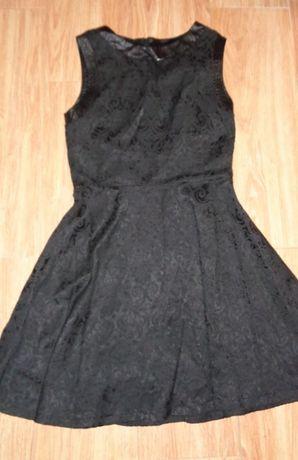Czarna imprezowa, weselna sukienka w rozm S