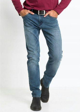 Nowe męskie spodnie jeans rozm 64 W46 wzrost 190 cm