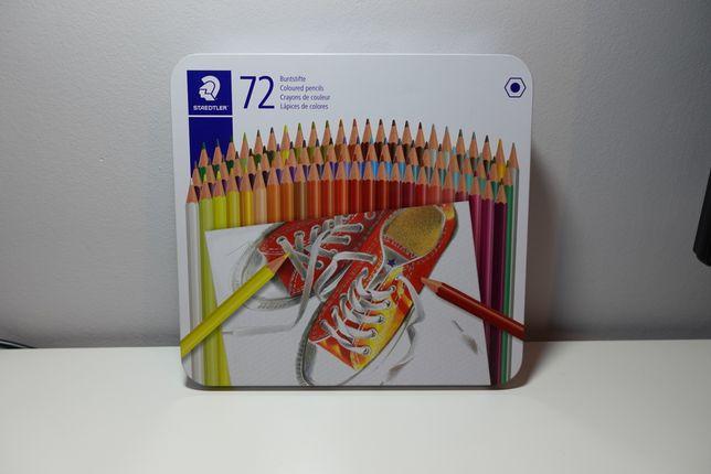 Kredki Staedtler 72 kolory - lekkie zużycie