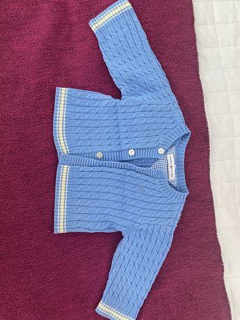 Błękitny sweter rozpinany Tommy Hilfiger rozm .62/68