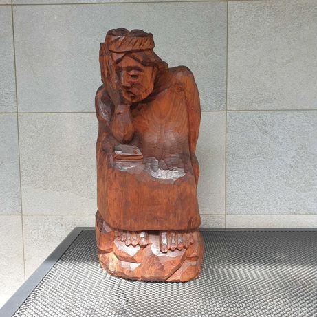 Rzeźba Chrystus Frasobliwy autor Ptak Czesław