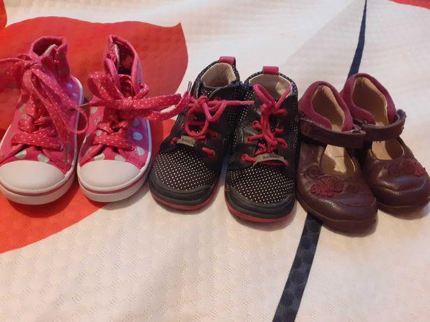 2 pary buciki dla dziewczynki r.22 14cm Bartek,Nelly Blu GRATIS Clarks
