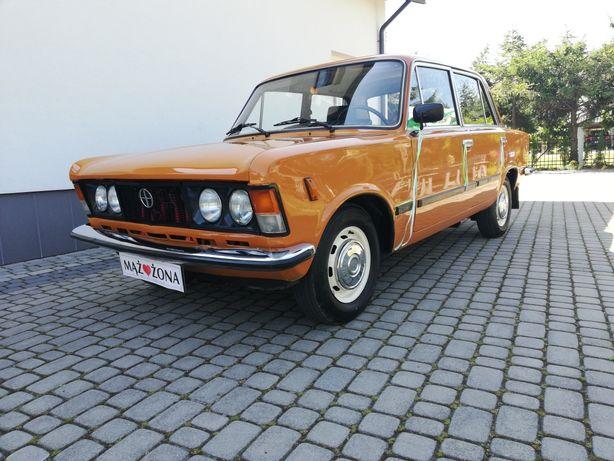 Klasyczny duży Fiat 125p do ślubu, sesja, ślub, wesele