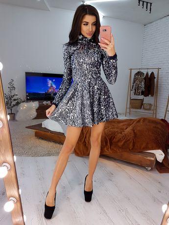 Нове нарядне плаття у паєтках