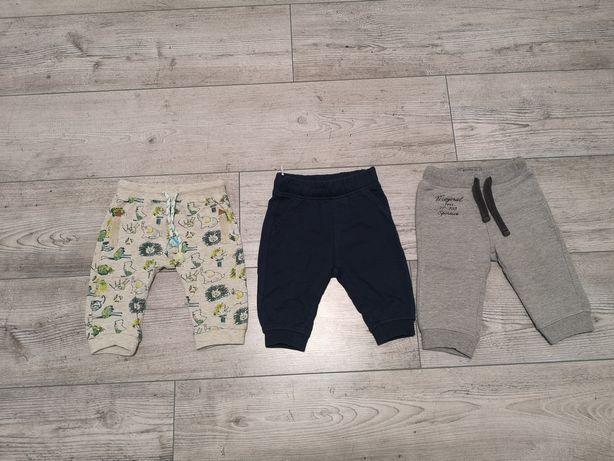 Spodnie 3szt. rozmiar 68 plus gratis!