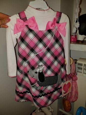 Sukieneczka i bluzeczka, komplecik dla dziewczynki na 3 latka
