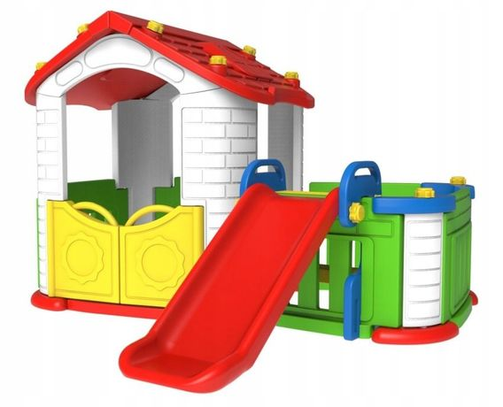 Plac Zabaw Dla Dzieci Domek Ogrodowy + Zjeżdżalnia Zog.chd-803