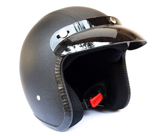 NOWY Kask Otwarty Retro Cafe Racer Brat Style Bobber Custom Scrambler