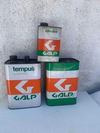 latas de oleo Galp vintage