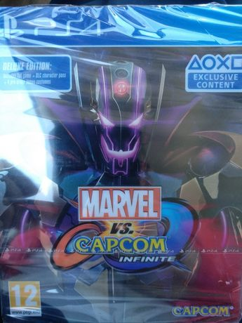Ps4 jogo marvel vs capcom steelbook deluxe novo selado collector troco