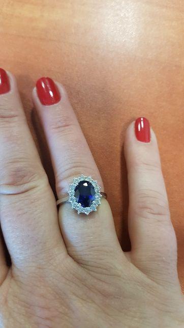 Nowy Srebrny pierścionek średnica 1,6 cm