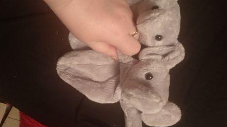 мягкая игрушка слон серый 2шт на липучке типа сумочки чехол слоник