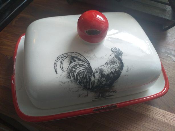 Maselnica sól pieprz komplet ceramika kogut rooster