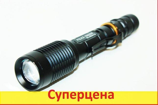 Фонарик мощный тактический Police BL-2804 158000W фонарь Подствольный