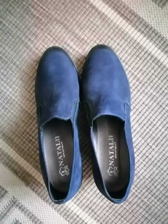 Ślicze skórzane pantofle.