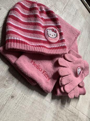 шапка шарф печтатки набор