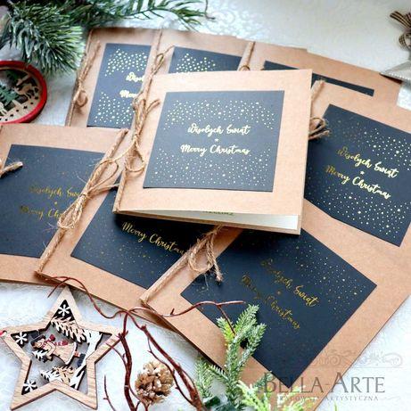 Kartki Świąteczne firmowe dla firm Biznesowe z LOGO +KOPERTA Faktura
