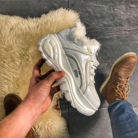 Кроссовки Buffalo London White Fur   кросівки Женские