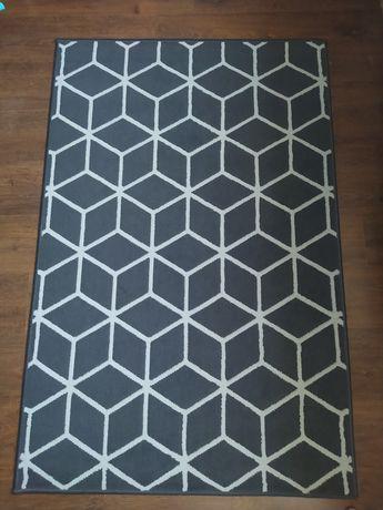Dywan 120x150 szary, grafit, romby, kwadraty