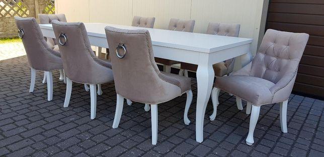 Producent krzesło glamour hampton pikowane z kołatką