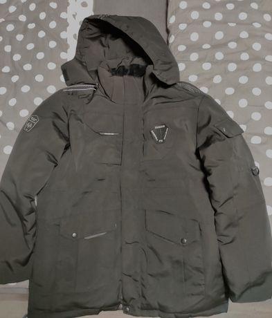 kurtka puchowa męska - bardzo ciepła - kolor czarny