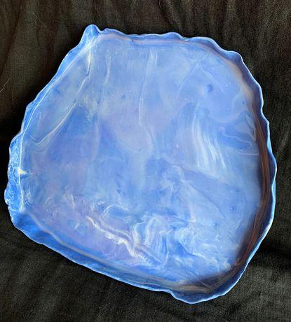Talerz duży porcelana handmade taca do serwowania
