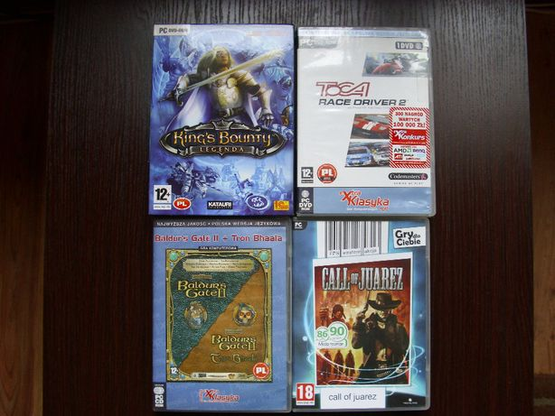Gry PC - Baldur's Gate II, Worms, Heroes of Might and Magic, Simcity
