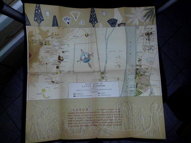 stara mapa LUXOR guid plan of Luxor & Karnak