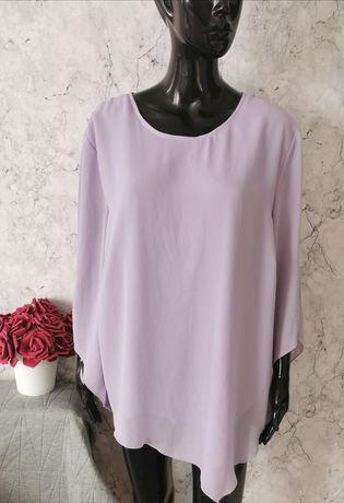 Elegancka liliowa koszula rozmiar 46 48  duży rozmiar plus size