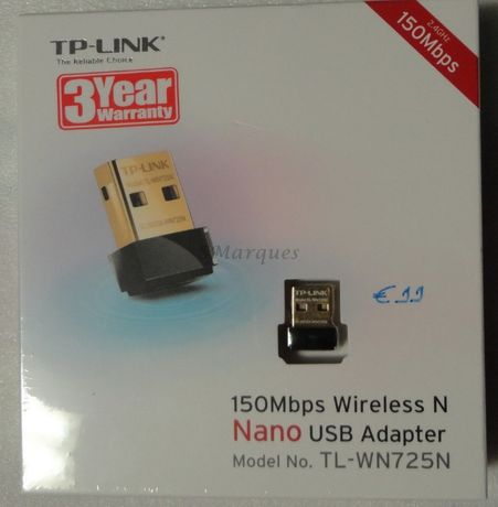 TP-Link TL-WN725N 150Mbps Wireless N Nano USB Adapter - Nova