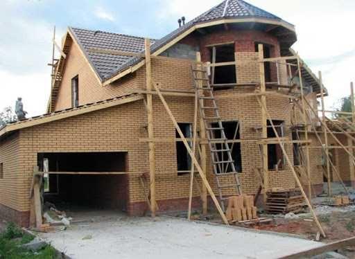 Строительство домов, подготовка территории, фундамент, заливка бетона