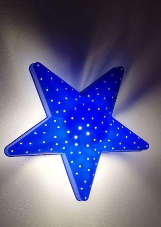 Lampka ścienna z Ikea niebieska gwiazdka