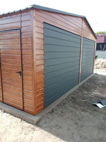 Garaże drewnopodobne nowoczesne premium solidne wzmacniana konstrukcj