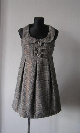 Atmosphera śliczna sukienka w kratkę r. 40
