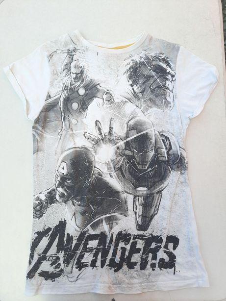 Футболка на 12-13 років 158 см котонова підліткова MARVEL Avengers