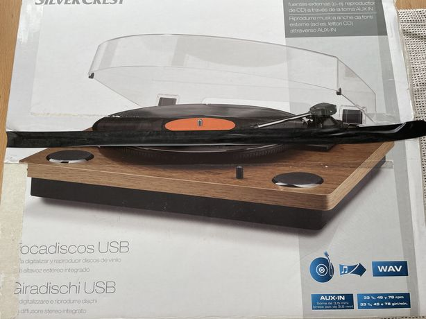 Giradiscos Silvercrest com USB
