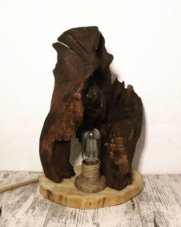 Світільники лофт ручної роботи з дерева