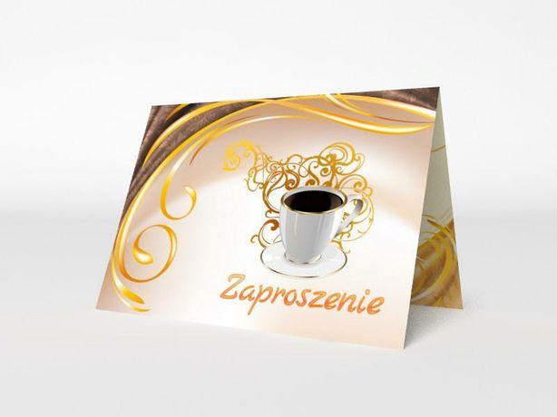 Zaproszenia okolicznościowe urodziny kawa koperta