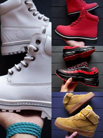 Распродажа зимних женских кроссовок Timberland,Nike,Puma