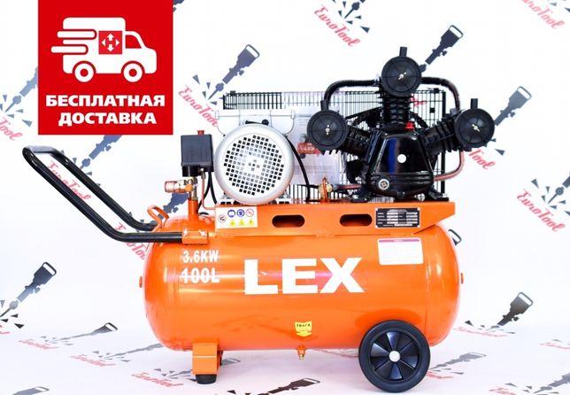 Компрессор с ресивером LEX LXAC365-100 ременая передача 100л 760л/мин