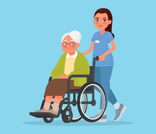 Cuidadora de idosos, casa de acolhimento