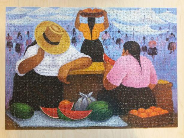 Puzzle Educa 1000 Art collection 'Fruit vendors' E. Millones [14465]