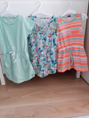 Zestaw sukienki i kombinezon 116