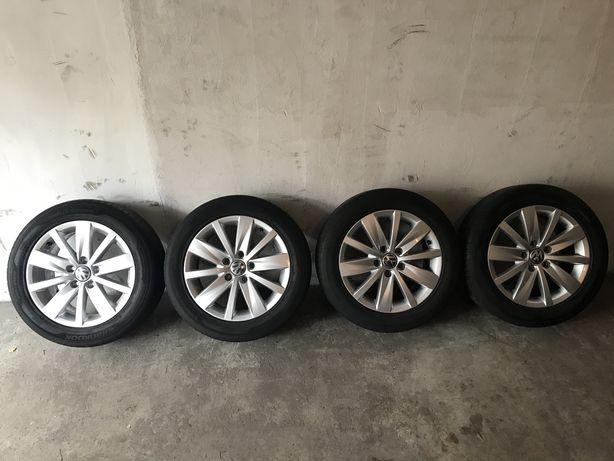 "Alufelgi 5x112 oryginalne VW opony lato 205/55 16"" Hankook"