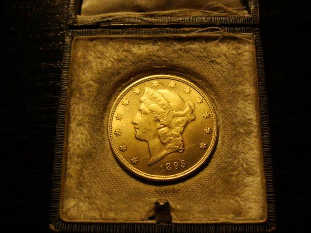 Złota USA Ameryka 20 Dollars Dolarów Liberty moneta 1893