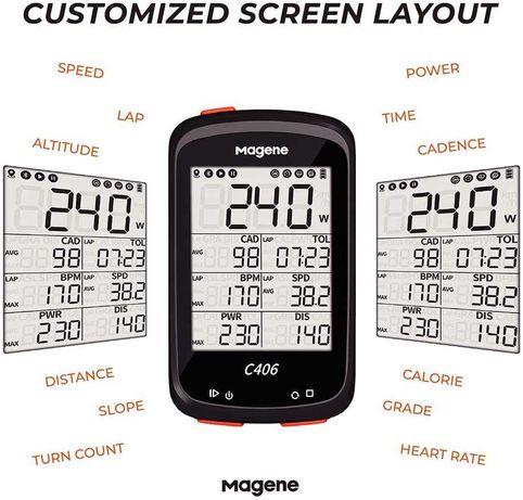 Велокомпьютер Magene c406 lite  GPS Strava датчики пульс,скорость