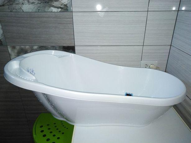 ванночка для купания со сливом и термометром tega baby, тега беби 92см